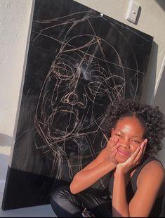 Progress Black Art, All Black, Natural Hair Styles, Hoop Earrings, Paintings, Nature, Jewelry, Naturaleza, Jewlery