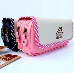 9072de368168 Korea Magic Channel Large Capacity 3 Layer Multifunctional Nylon School  Pencil Case Big Pen Bag Cases