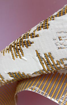 Textiles with plaster by Chloe Glews http://csmtextiles.tumblr.com/post/88612324334/chloe-glews