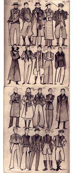 vintage clothing inspiration | Charakter Design Inspiration in 2018 ...