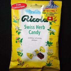 【リコラ オリジナルハーブキャンディ】スイスの大自然が育んだハーブを愛する心と知恵から生まれた、13種類のハーブエキスが使用されている、のどに優しいキャンディーです。