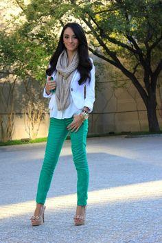 Fall Fashion. Green pants