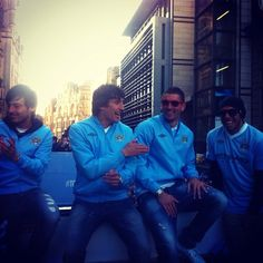 The boys on the back #together #mcfc by Manchester City FC - Official, via Flickr