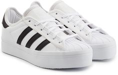 Adidas Originals Leather Superstar Platform Sneakers