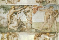 Michelangelo, Sistine Chapel Ceiling: The Temptation and Expulsion, 1508-1512