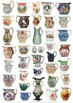 A selection of Antique British Jugs.