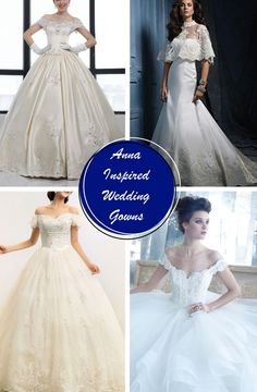 Elsa and Anna Inspired Wedding Gowns  SO PERFECT! Ideas???? WHY NOT! A FRozen INspired Weddin!;)
