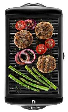 S//M//L Non-Stick Cast Iron Reversible Steak Griddle Plate Indoor BBQ Hob Cooking