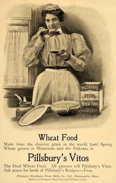 1900 Ad Wheat Food Pillsbury Vitos Recipe Housewife - ORIGINAL ADVERTISING LHJ4