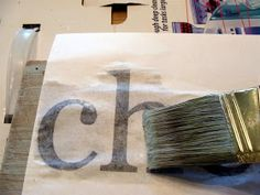 Transfer lettering printed with your ink jet printer to wood painted with acrylic paint! So simple!