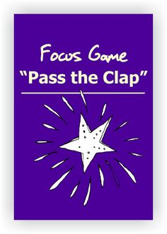FREE DRAMA GAME~Pass the Clap~ Have students form a standing circle. Tell students that they will be passing a clap around the circle, but that it will go around the circle two students at a time. Choose a starting point and have one person turn to the ne