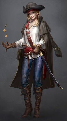 Confident Pirate lady