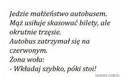 Jedzie małżeństwo autobusem - http://hasiok.com.pl/767/Jedzie-malzenstwo-autobusem