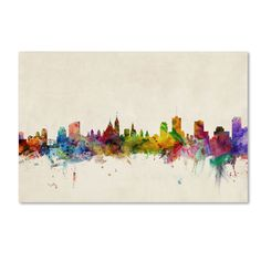 Ottawa Skyline Painting Print on Wrapped Canvas Americanflat Size: H x W Flower Wall Decals, Nursery Wall Decals, Wall Murals, Wall Art, Wall Canvas, Canvas Art, Canvas Size, Painting Prints, Art Prints