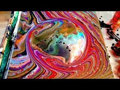 #24 Pouring a planet with acrylic flow art. - YouTube