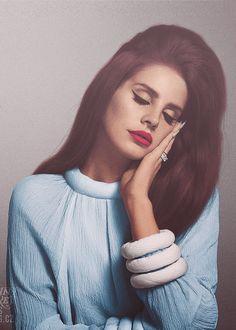 • red perfect Awesome vintage lips nails long hair lana del rey lana del rey deliriesistenziali •