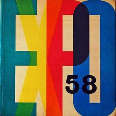 Expo 58 book cover designed by František Cubr. #chromatictypography @designmuseum @NovoTypo  via @wayneford