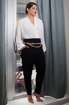 Denise Bidot rocking the Biltmore Bodysuit from Fashion To Figure| Plus Size Fashion