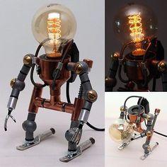 Lâmpadas De Luz De Mesa Decoração Casa De Lâmpada De Mesa Ligthing Torneira Handmade Luz Robô