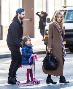 Tom Sturridge with Sienna Miller & daughter Marlowe