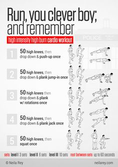 Run, you clever boy, and remember! High Intensity High Burn at Home Cardio Workout