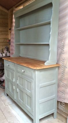 ��priory painted welsh dresser ��DELIVERY AVAILABLE Painted Dressers, Painted Furniture, Shabby Vintage, Painted Buffet, Welsh Dresser, Furniture Restoration, Hope Chest, Restore, Chalk Paint