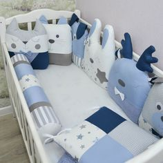 Crib bumpers - Baby bed bumper - Crib bedding - Cot bumper set White Crib Bumper, Cot Bumper Sets, Bumper Pads For Cribs, Baby Bumper, Custom Canopy, Baby Crib Bumpers, Girl Crib Bedding Sets, Baby Shower, Time 7