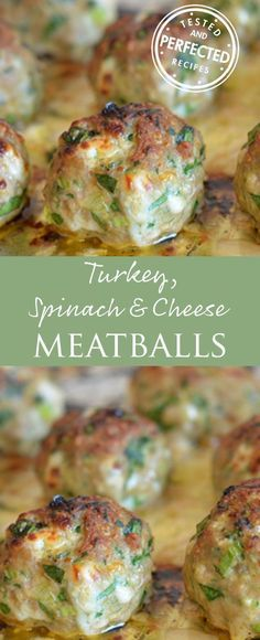 Turkey, Spinach & Cheese Meatballs
