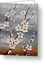 Cherry Blossoms Greeting Card by Tomoko Koyama