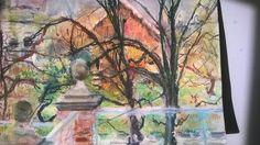 November 16: View from Richmond Lock bridge  (JR Soft Pastel)