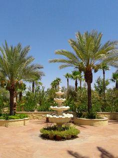 Fountain in entrance courtyard