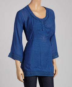 Blue Peasant Top | Daily deals for moms, babies and kids