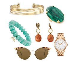 """paletta calda"" by paola-spano on Polyvore featuring Ahlem, Stella & Dot, Tissot, Elizabeth Cole and Sydney Evan"