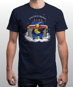 """Winter is coming, call Mr Plow"" is today's £8/€10/$12 tee for 24 hours only on www.Qwertee.com Pin this for a chance to win a FREE TEE this weekend. Follow us on pinterest.com/qwertee for a second! Thanks:)"