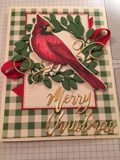 Stampin' Up! Christmas Bird, Stampin Up Christmas, Christmas Cards To Make, Xmas Cards, Handmade Christmas, Holiday Cards, Christmas 2019, Christmas Paper, Christmas Ideas