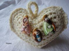 Cuore:Social Crochet  lanaD'Abruzzo   Bottoncini:Emmetticeramiche