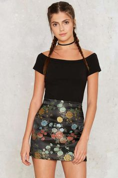 Nasty Gal In Season Jacquard Skirt - Clothes | Best Sellers | Skirts | Prints