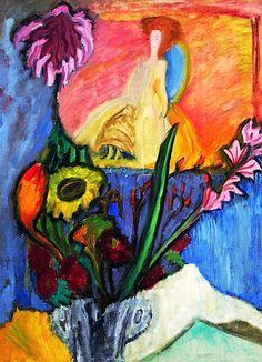 Still Life With Queen - Gabriele Münter