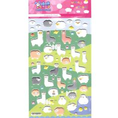 Cute Alpaca Llama Sheep Animal Shaped Puffy Stickers for Scrapbooking