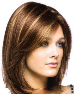 Miranda Kerr Medium Hairstyles for Round Faces