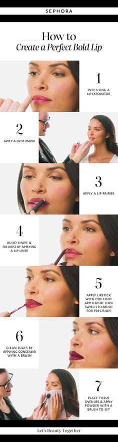 Learn how to get a perfect lip look with liquid lipstick. Want more details? Click the image to watch a full tutorial on our YouTube channel. #Sephora