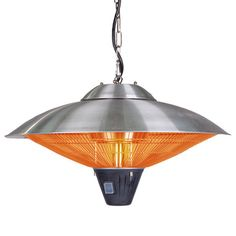 Keep your porch or patio toasty on cool evenings with this indoor/outdoor hanging heater, a perfect addition to alfresco dinners and early-morning breakfasts...