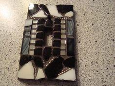MOSAIC Light Switch Plate - Black, White, Silver