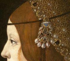 Giovanni Ambrogio de Predis | Bianca Maria Sforza (detail) | c. 1493