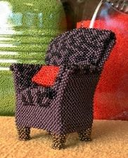 Beaded chair - close up.