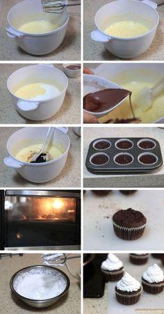 DIY chocolate cupcakes for MOM