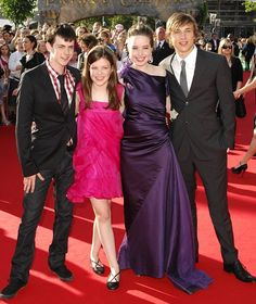 Skandar Keynes, Georgie Henley, Anna Poppywell and William Moseley at the London premiere of The Chronicles Of Narnia: Prince Caspian