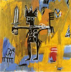 JEAN-MICHEL BASQUIAT  Untitled (Julius Caesar on Gold), 1981  Acrylic and oil paintstick on canvas  50 x 50 inches (127 x 127 cm)  © The Estate of Jean-Michel Basquiat/ADAGP, Paris, ARS, New York 2013
