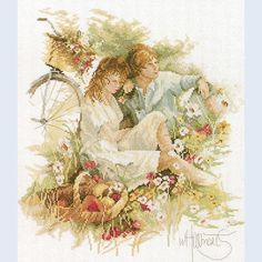 Picnic by Haenraets - counted cross-stitch kit Lanarte