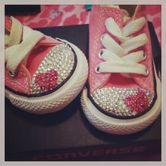 Bedazzled pink classic converse by SashasBowtique on Etsy, $45.00